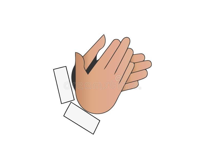 Os dedos cruzaram o símbolo Gesticule a boa sorte, fortuna, mentira, decepção Ilustração dos desenhos animados isolada no fundo b ilustração royalty free