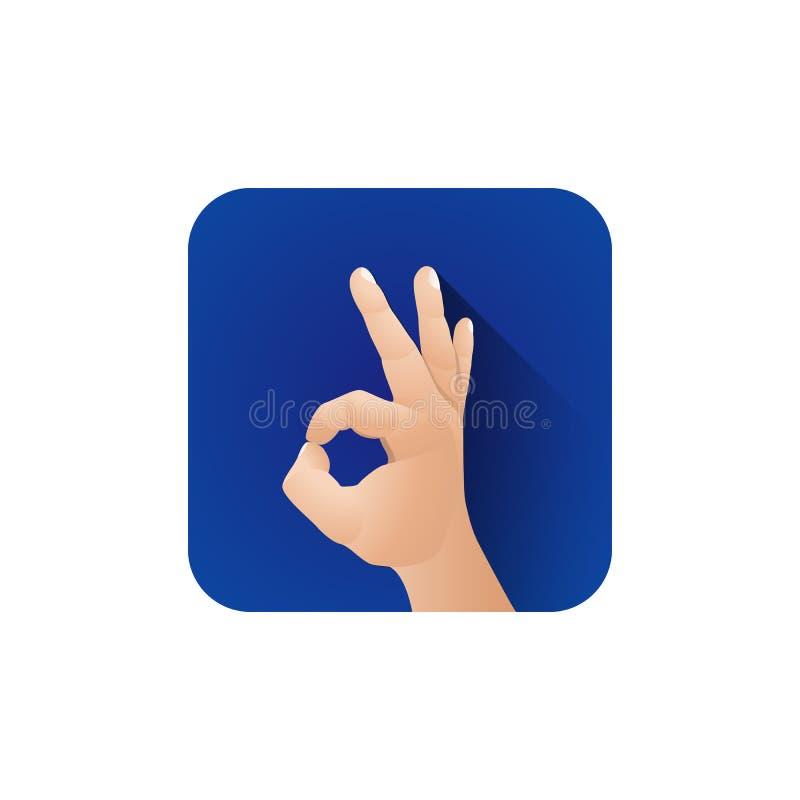 Os dedos simb?licos da m?o gesticulam a ilustra??o ilustração royalty free