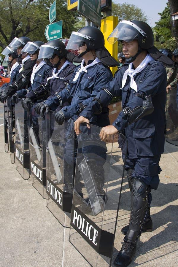 Os demonstradores convirgiram no capital tailandês imagem de stock royalty free