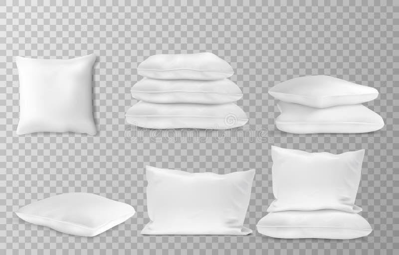 Os descansos brancos realísticos tomam partido combinações que da opinião superior do en o modelo ajustou o fundo transparente ilustração royalty free