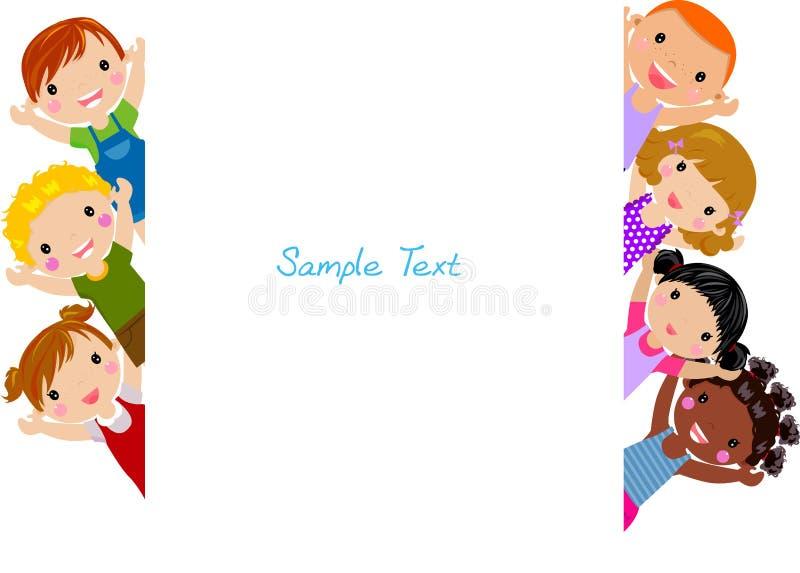 Os desenhos animados bonitos caçoam o frame ilustração royalty free