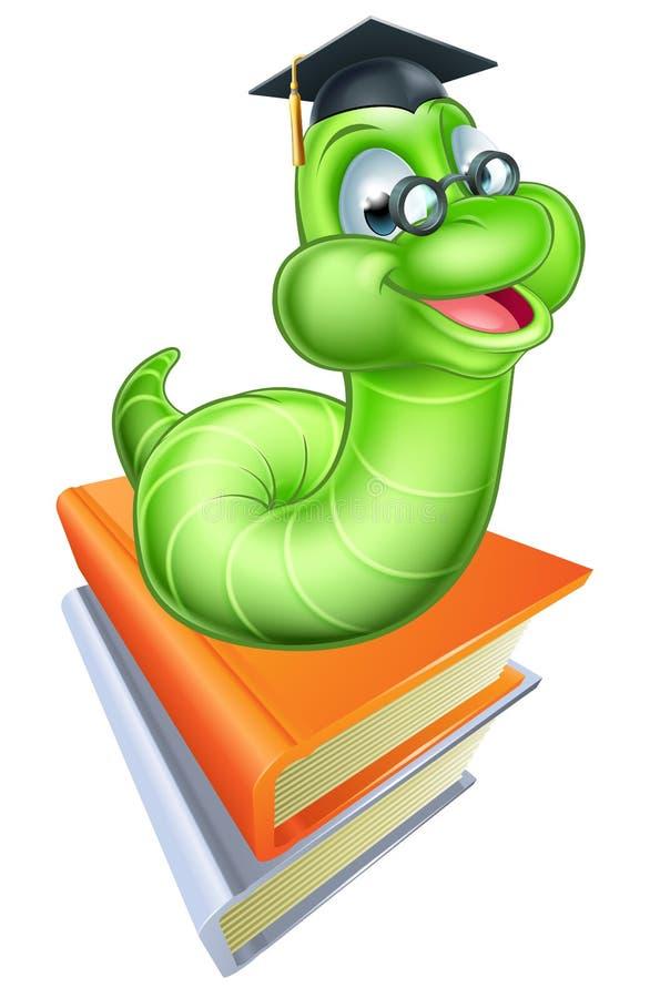 Os desenhos animados bonitos Caterpillar Worm ilustração royalty free