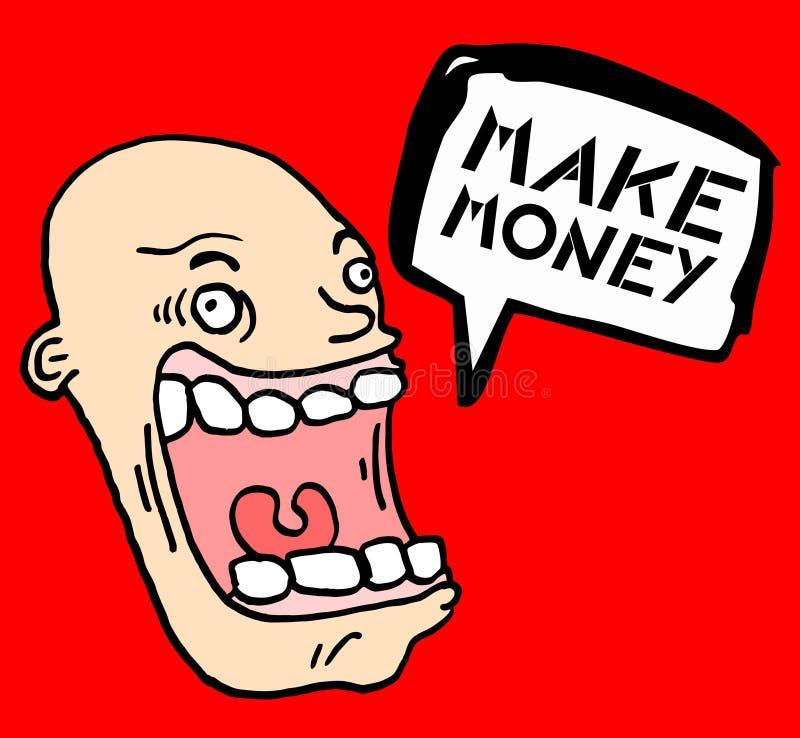 Os desenhos animados fazem o dinheiro ilustração stock