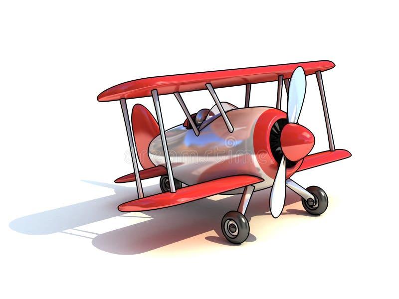 Os desenhos animados gostam da ilustração do avião 3d ilustração stock
