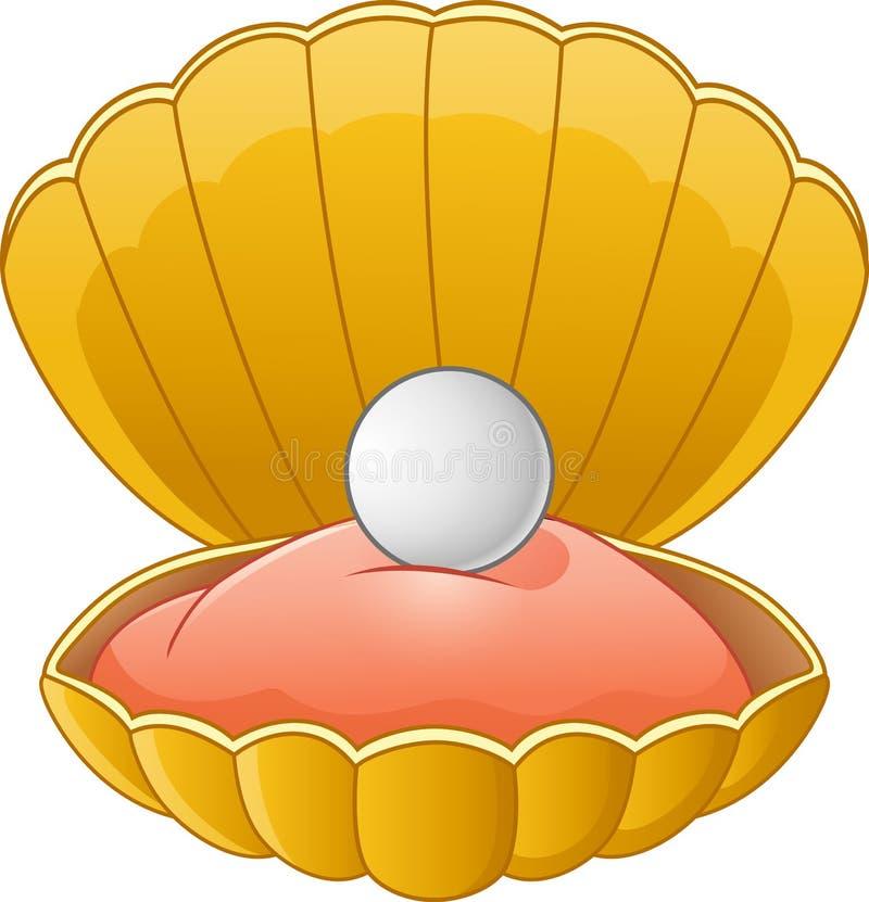 Os desenhos animados Shell perolizam ilustração stock
