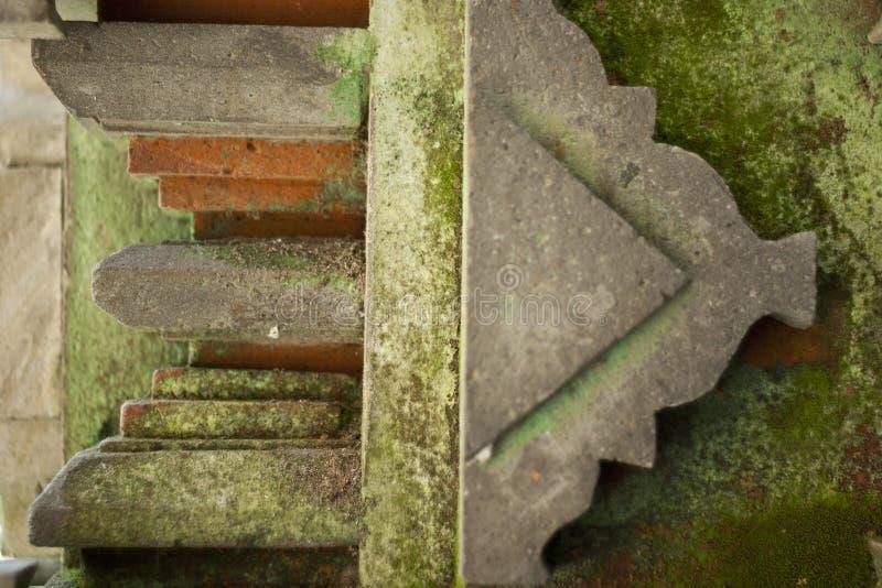 Os detalhes retros da construção de Bali fotos de stock royalty free