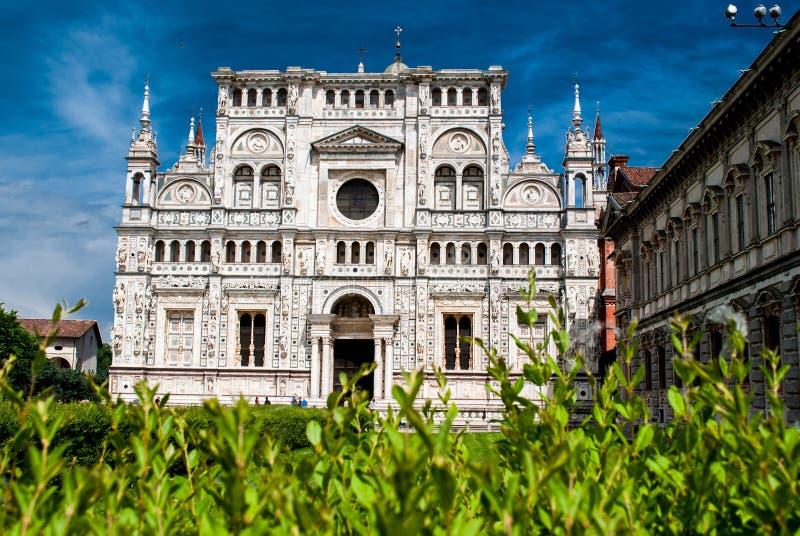 Os di Pavia ou Charterhouse de Certosa de Pavia imagens de stock