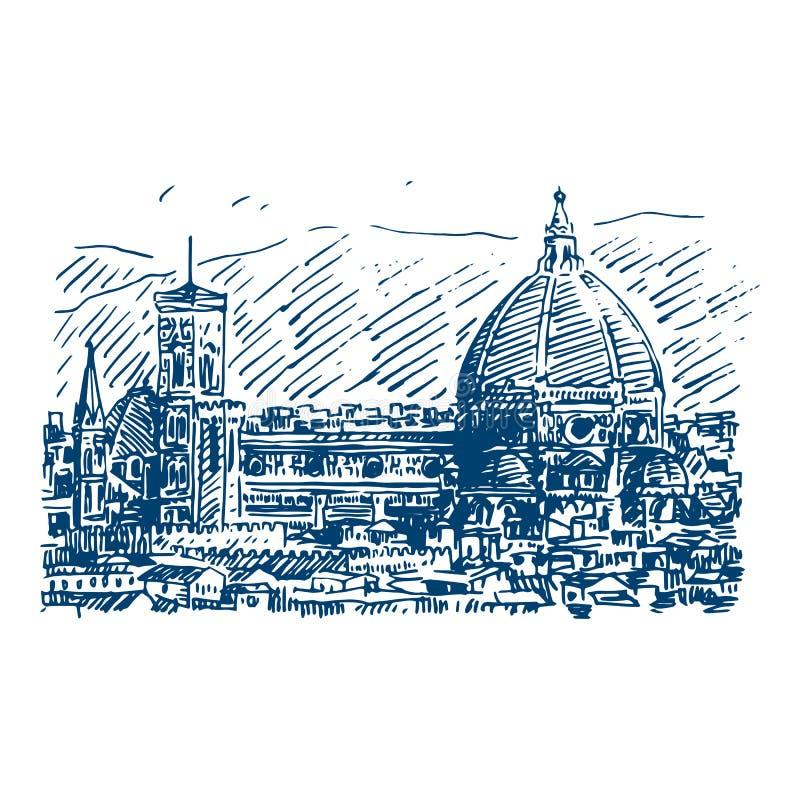 Os di Santa Maria del Fiore de Cattedrale em Florença, Itália ilustração royalty free