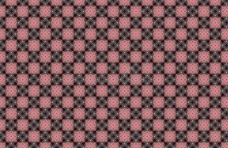Os diamantes azuis cor-de-rosa esquadram o teste padr?o abstrato geom?trico ilustração do vetor