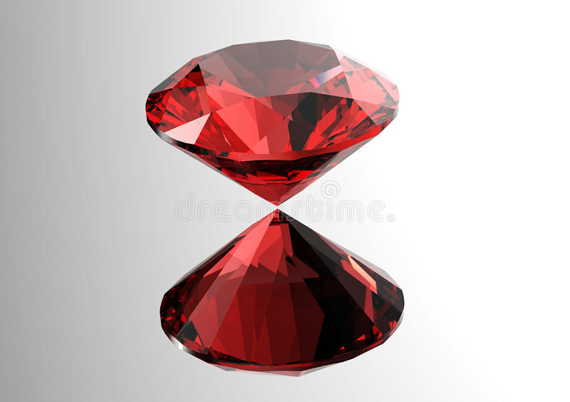 Os diamantes rendem Pedra preciosa da joia garnet ilustração royalty free