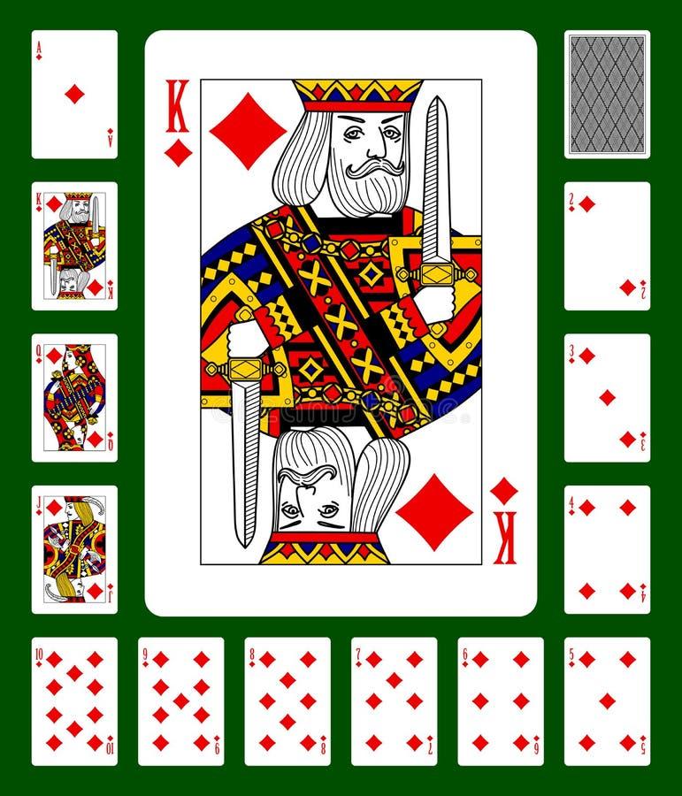Os diamantes serem cartões de jogo ilustração do vetor