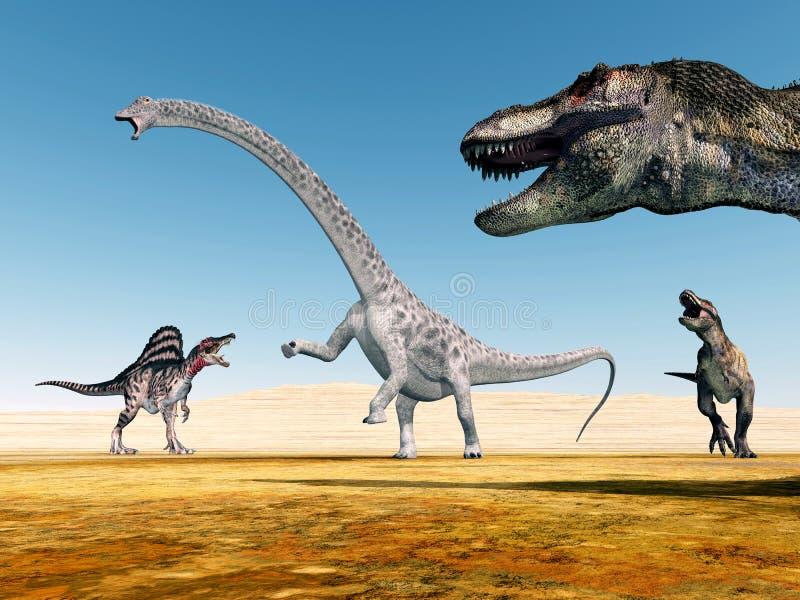 Os dinossauros ilustração royalty free