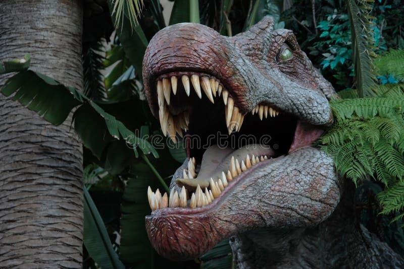 Os dinossauros abrem a boca foto de stock royalty free