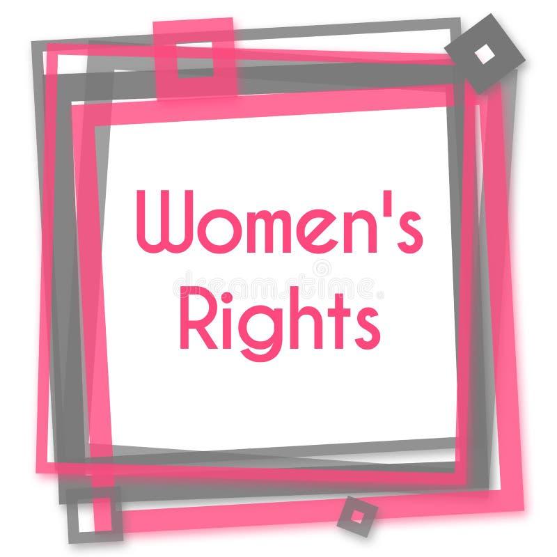 Os direitos Grey Frame cor-de-rosa das mulheres ilustração royalty free