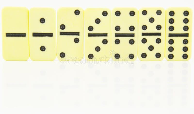 Os dobros do dominó estiveram em ordem imagem de stock royalty free