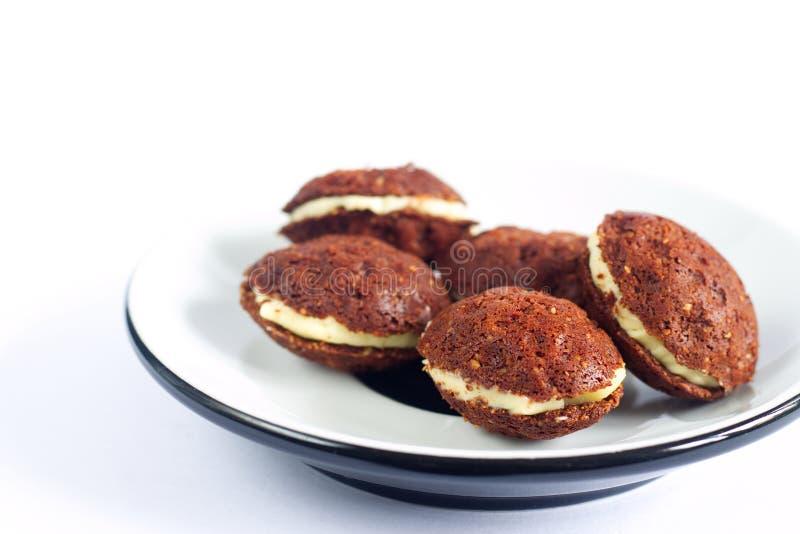 Os doces checos tradicionais feitos a mão do Natal chamaram porcas Versão de Paleo sem açúcar, leite e glúten adicionais imagem de stock