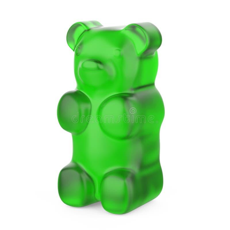 Os doces gomosos dos ursos isolaram-se ilustração royalty free