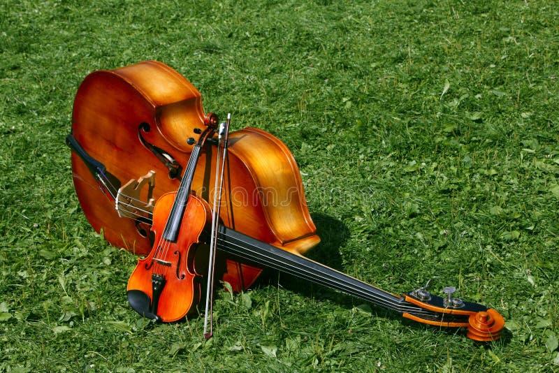 Os dois instrumentos de música foto de stock royalty free