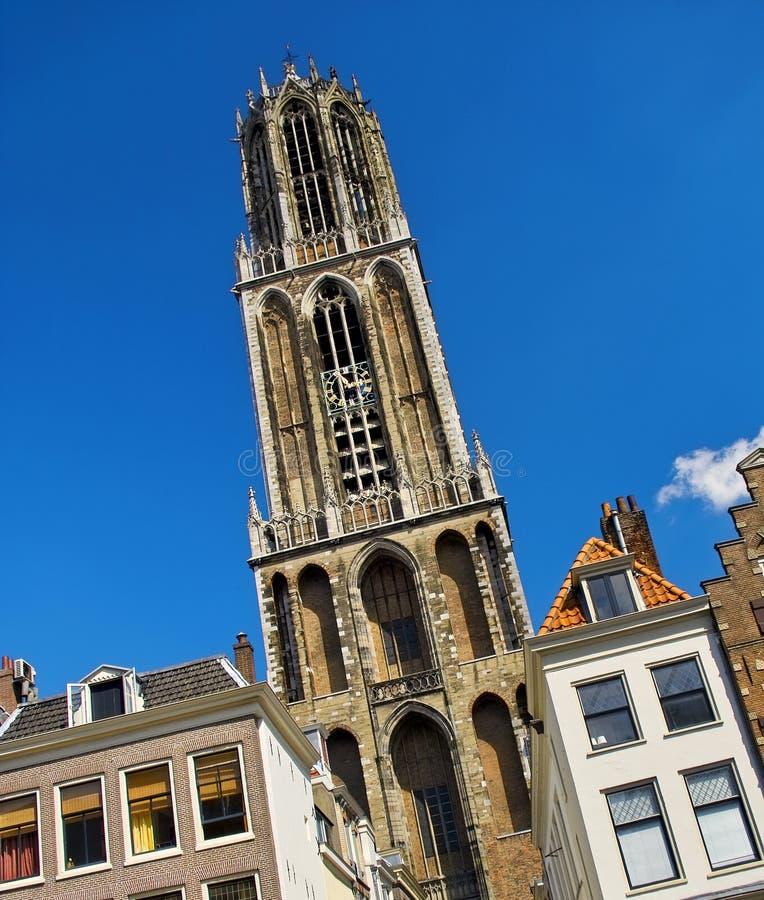 Os DOM cathederal em Utrecht, Holland imagens de stock