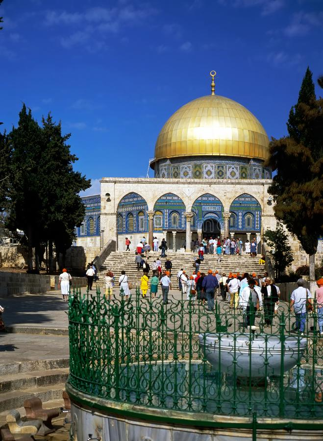 Os DOM da rocha, Jerusalém imagem de stock