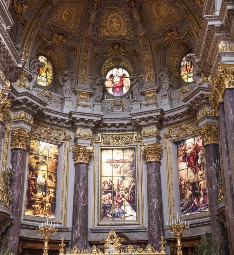Os DOM do berlinês - catedral de Berlim, Alemanha imagens de stock