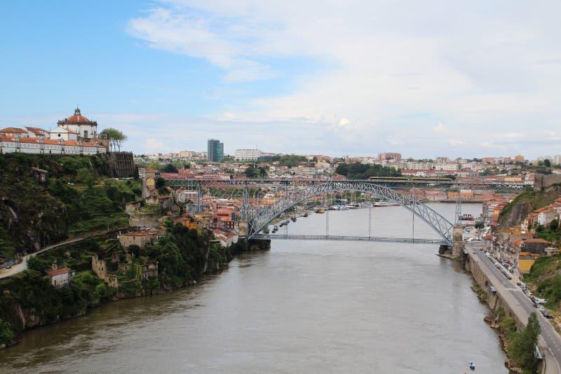 Os DOM LuÃs que eu construo uma ponte sobre, Porto, Portugal fotografia de stock royalty free