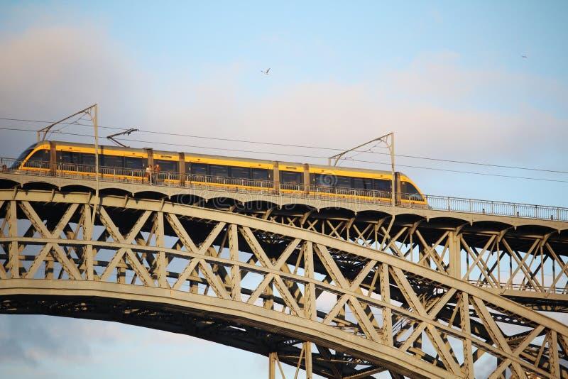 Os DOM LuÃs que eu construo uma ponte sobre, Porto, Portugal imagens de stock royalty free