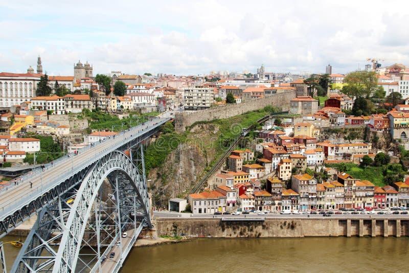 Os DOM LuÃs que eu construo uma ponte sobre, Porto, Portugal fotos de stock
