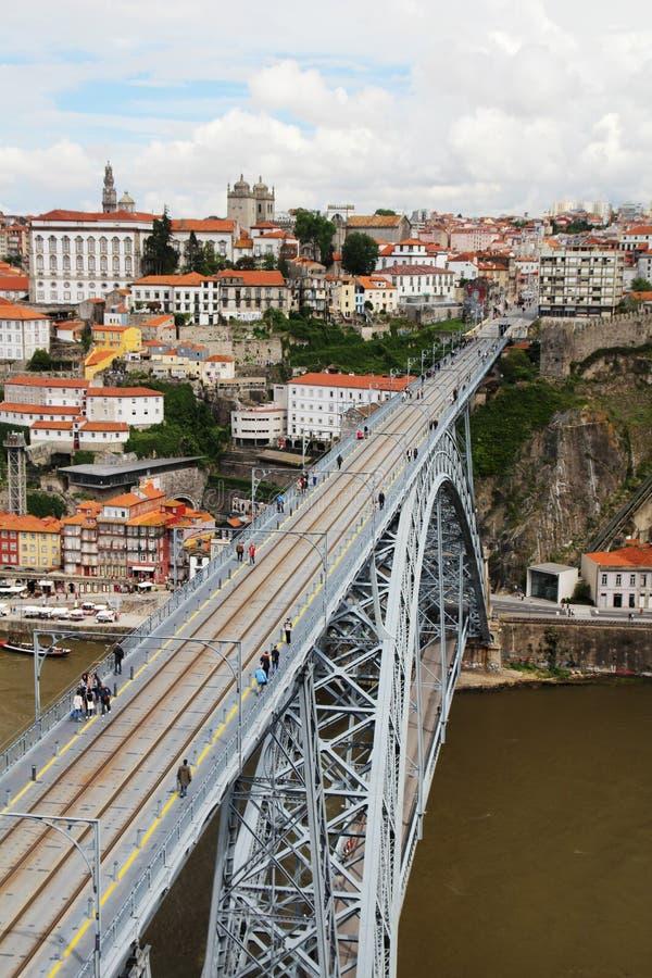 Os DOM LuÃs que eu construo uma ponte sobre, Porto, Portugal fotos de stock royalty free