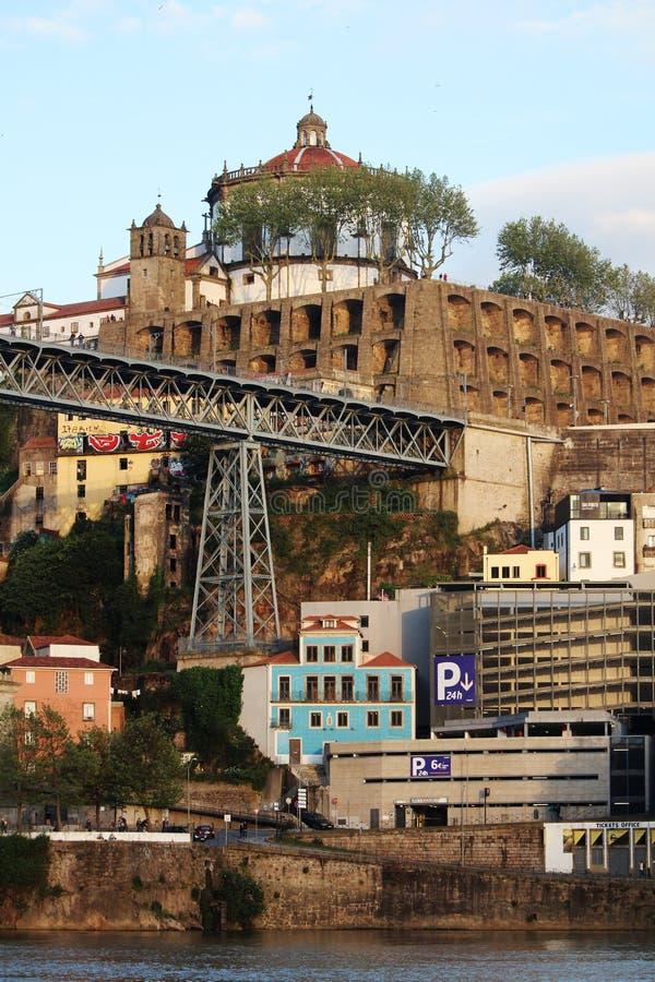 Os DOM LuÃs que eu construo uma ponte sobre, Porto, Portugal imagem de stock