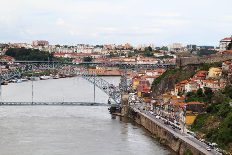 Os DOM LuÃs que eu construo uma ponte sobre, Porto, Portugal foto de stock royalty free