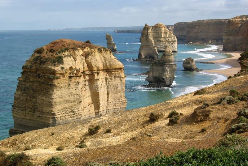 Download Os Doze Apóstolos, Austrália Foto de Stock - Imagem de apostles, rocha: 70434