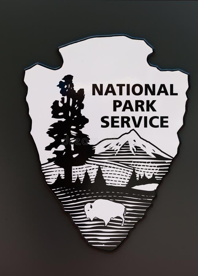 Os E.U. National Park Service assinam dentro preto e branco ilustração royalty free