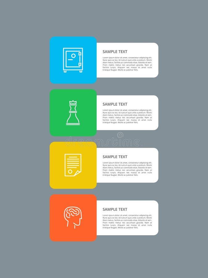 Os elementos de Infographic esquadraram a ilustração do vetor ilustração royalty free