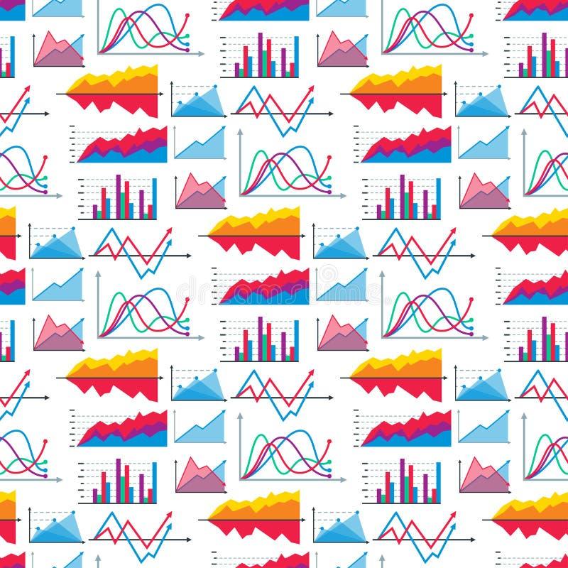 Os elementos do gráfico da carta do diagrama vector o progresso infographic das setas e do círculo do molde dos dados da folha de ilustração royalty free
