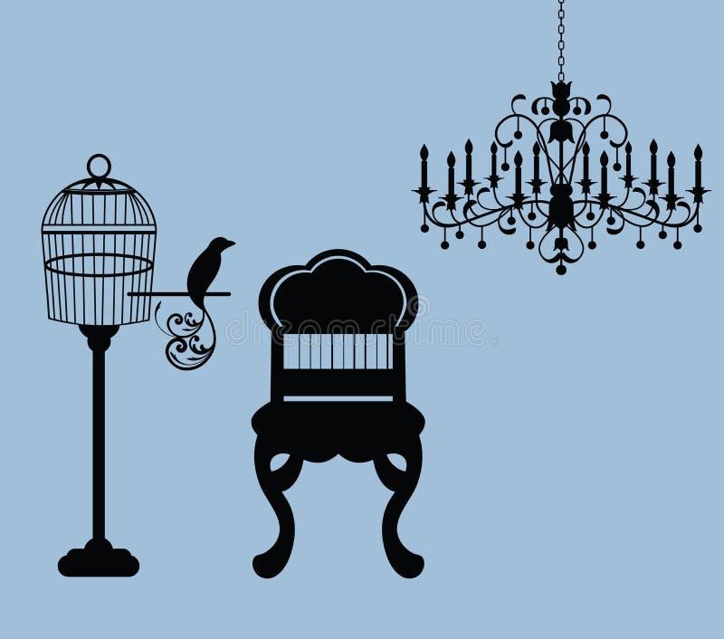 Os elementos do projeto gráfico do vintage dirigem relacionado   ilustração do vetor