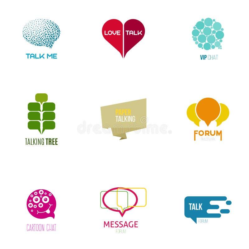 Os elementos gráficos editáveis para o projeto com discurso borbulham ilustração stock
