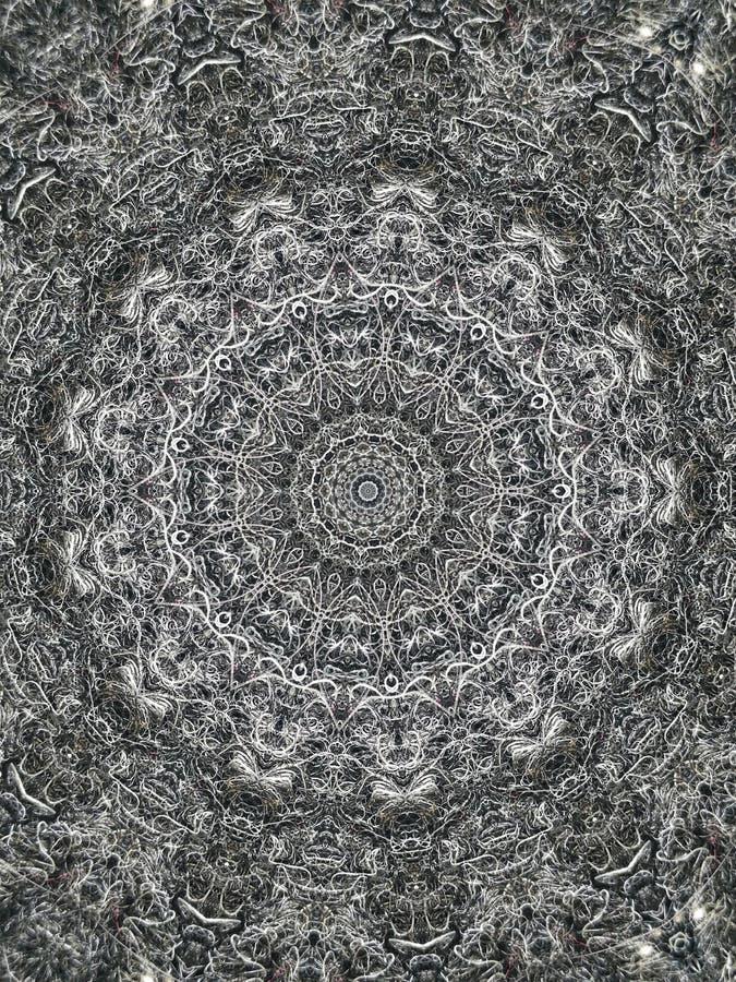 Os elementos são padrões repetitivos, listras abstratas 3D Os tons cinza são poderosos Tangle, do aplicativo foto de stock