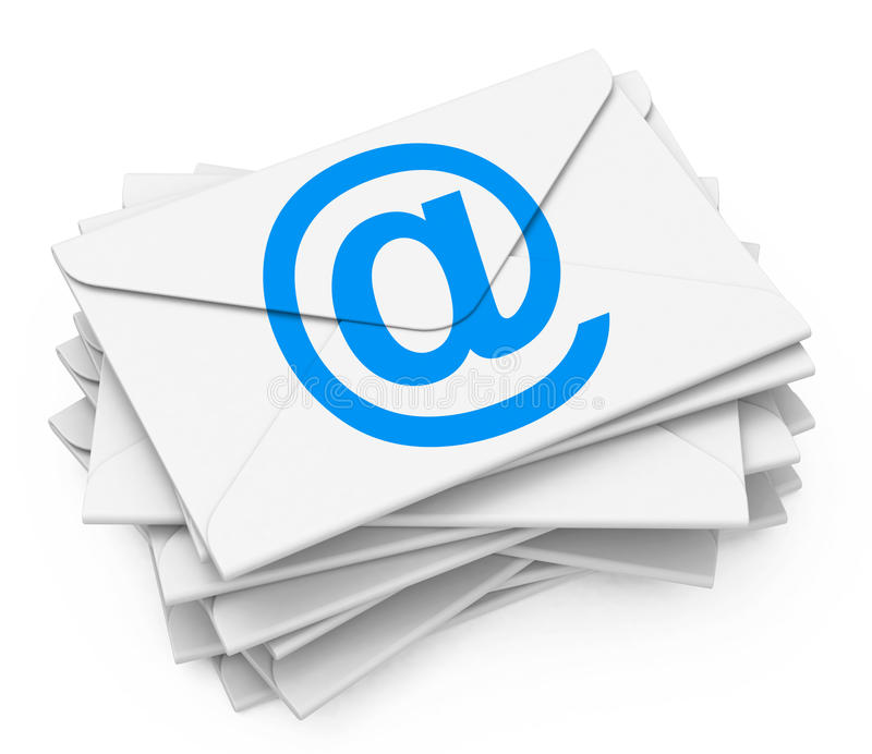 Os email ilustração royalty free