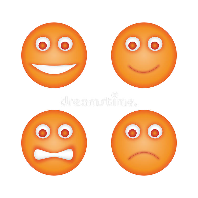 Os Emoticons ajustaram-se ilustração royalty free