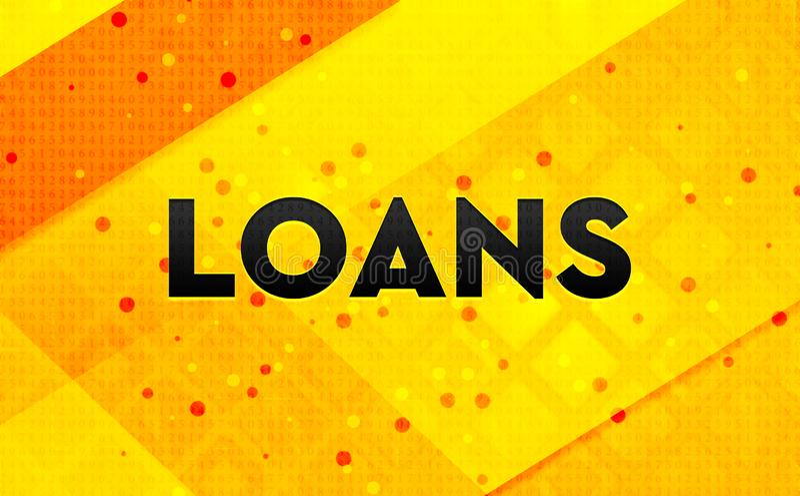 Os empréstimos abstraem o fundo amarelo da bandeira digital ilustração do vetor