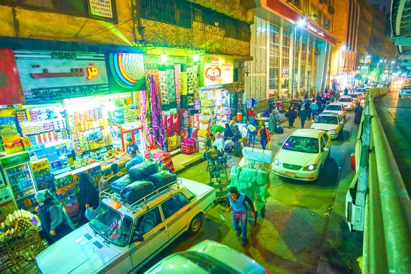 Os engarrafamentos em nivelar o Cairo, Egito imagens de stock royalty free