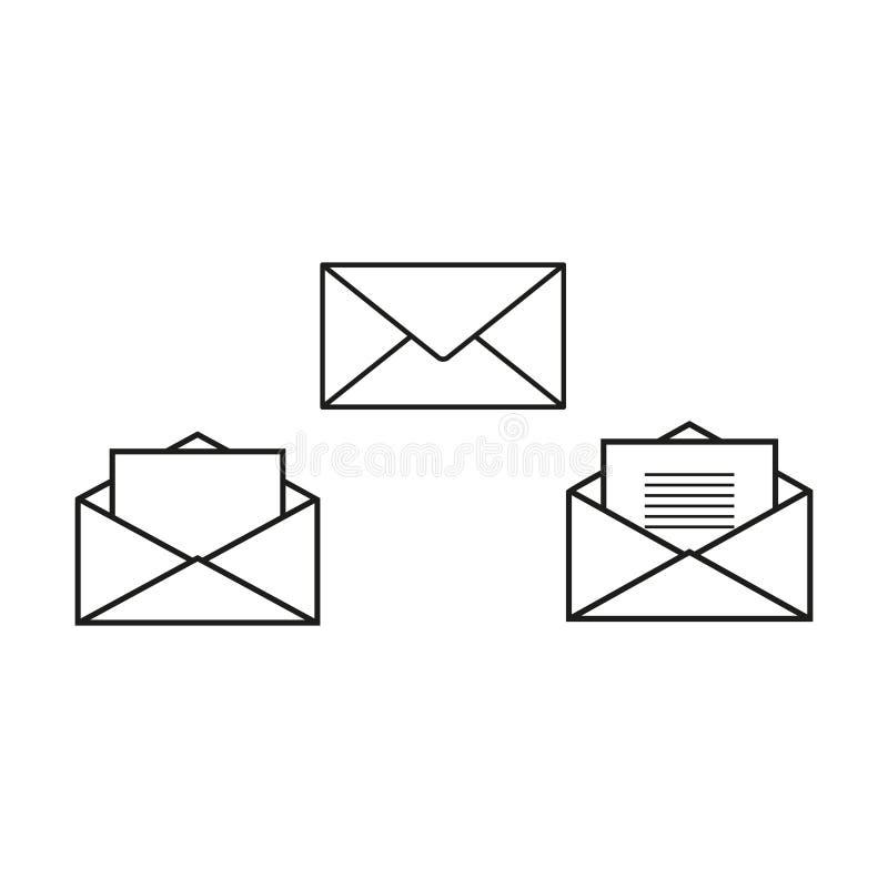 Os envelopes ajustaram ícones ilustração royalty free