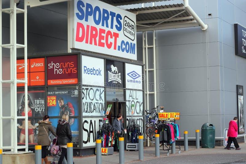 Os esportes dirigem a loja. fotografia de stock