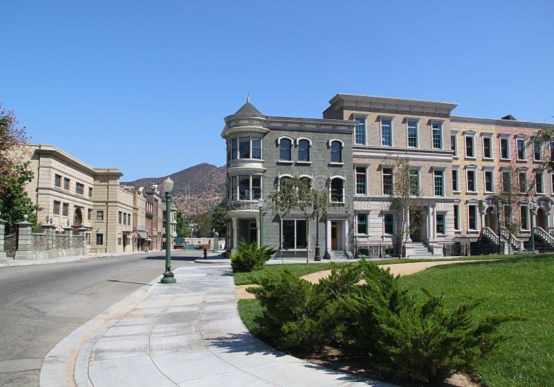Os estúdios de Paramount representam a rua vazia de uma cidade Los Angeles, Hollywood foto de stock