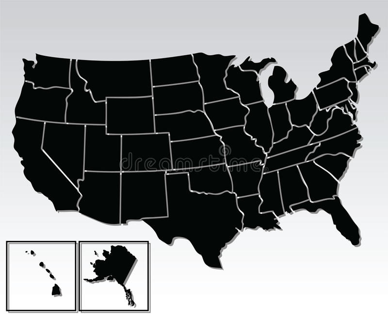 Os Estados Unidos da América ilustração royalty free