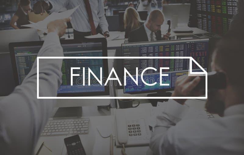 Os estrangeiros financiam investem o conceito do comércio do negócio de operação bancária fotos de stock