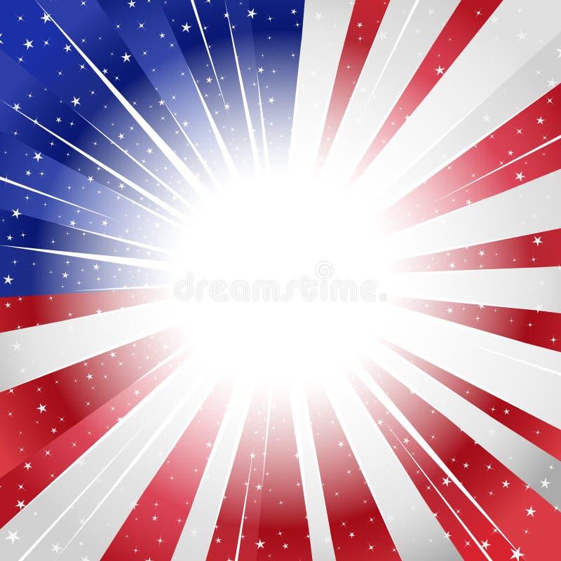 Os EUA denominaram o sunburst ilustração do vetor