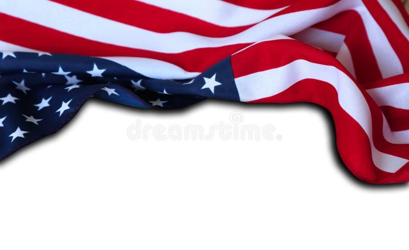 Os EUA embandeiram no branco fotografia de stock royalty free