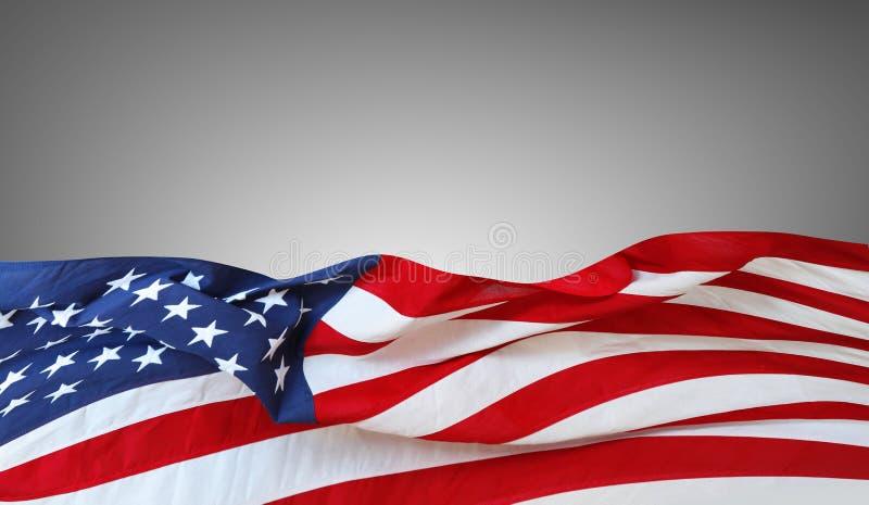 Os EUA embandeiram no cinza fotos de stock royalty free